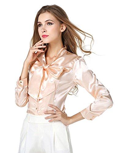 Jueshanzj Femme Shirts basique manches longues nœud papillon bandage
