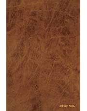 Journal: 120 Blank Lined Pages, 6x9 College Ruled Notebooks and Journals, Brown Leather paperback | Designer Journal, Diary, Notebook