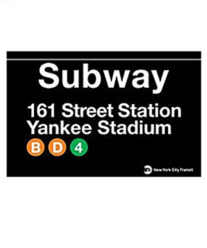 (New York City Yankee Stadium Tin Subway Sign)