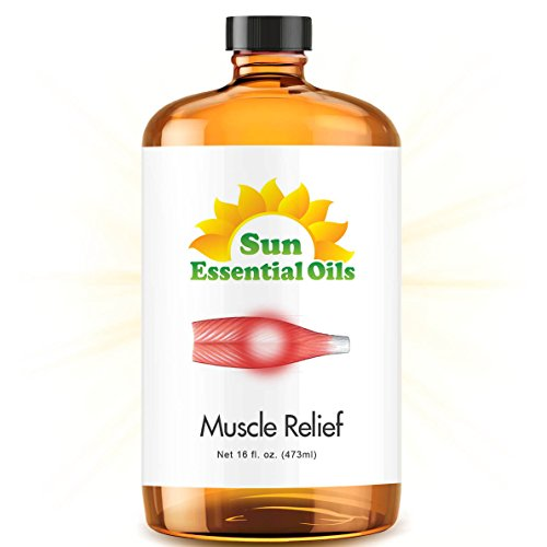 Deep Muscle Relief Blend - Mega 16oz Best Essential Oil (Wintergreen, Peppermint, Chamomile Blue, Eucalyptus & Camphor)