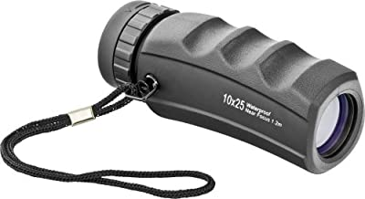 Orion 08448 10x25 Waterproof Pocket Monocular (Black) by Optronic Technologies, Inc