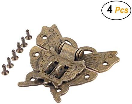 Wooden Box Mini Cabinet Buckle Locks Antique Hasp Latch Accessories W