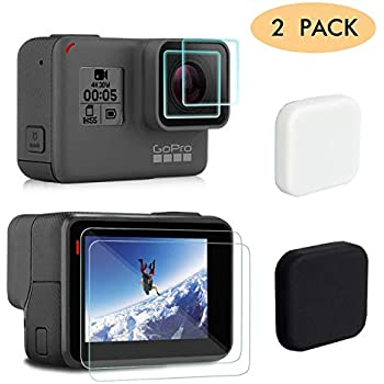 USDREAM Camera Protective Lens Cap for GoPro Hero 5 in Black GoPro Hero 6 Packs of 2 GoPro Hero 7 Black Sports Action Camera Accessories