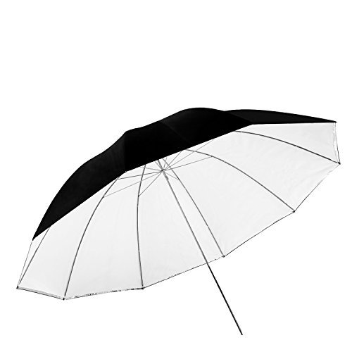 Neewer 59 inches/150 Centimeters Detachable Photography Lighting Umbrella - White Convertible Umbrella with Removable Black Cover and Reflective Silver Backing by Neewer
