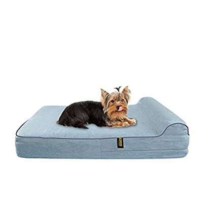 KOPEKS - Orthopedic Memory Foam Dog Bed With Pillow and Waterproof Liner