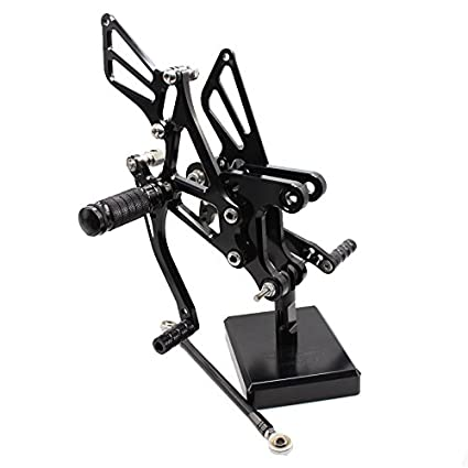 FXCNC Racing 05-08 ZX6R Motorcycle Rearsets Foot Pegs Rear Set Footrests Fully Adjustable Foot Boards Fit For Kawasaki Ninja ZX6R ZX636 2005 2006 2007 ...