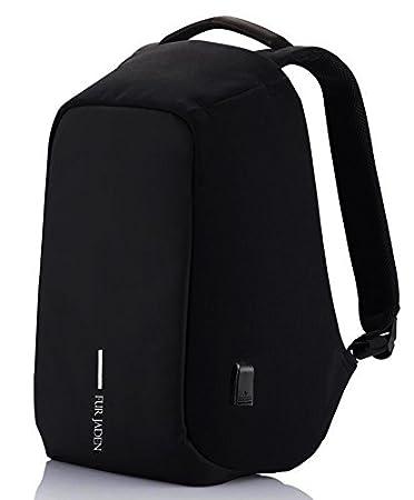 Fur Jaden 15 Ltrs Black Casual Backpack (BM20_Black)