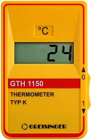Ghm Greisinger Gth 1150 Gourmet Set Roasting Thermometer Thermometer With Probe Plastic Yellow 14 X 6 8 X 3 Cm 2 Units Küche Haushalt