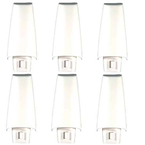 GE White Shade Incandescent Night Light 52194, 6 Count