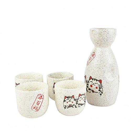 Motif Chat Japonais Porte Bonheur SERVICE /à SAKE MANEKI NEKO