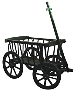 Garden Decoration Wagon01G Wagon, 19-Inch, Green