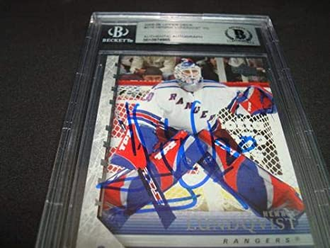 Henrik Lundqvist Signed 05 06 Young Guns Rc 216 Beckett Bas Coa 1b