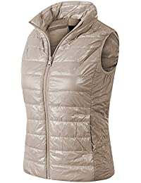 754e0d233a4 Women s Casual Warm Lightweight Packable Down Quilted Puffer Vest Coat  Jacket (S-3X)