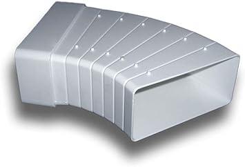 60x204 Multibogen Verbinder Verbindungsst/ück 3/° bis 48/° horizontal flach L/üftung Abluft Zuluft System 125