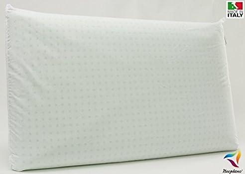 Neoplano Naturlatex Kissen, 100% Baumwolle, Hypoallergen, Anti Milben  Bakterizid,