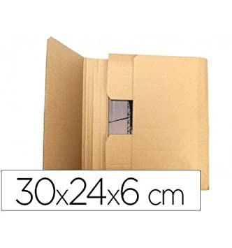 Q-Connect Caja Para Embalar Libro Medidas 300X240X60 Mm Espesor Cartón 3 Mm: Amazon.es: Oficina y papelería