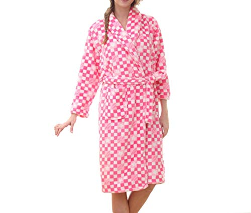 Cashmere Mujeres Las Lujo Coral Chal Moda Invierno De Pink Albornoz Pijamas Bañarse Bata Franela Pijama x8E50w5dq