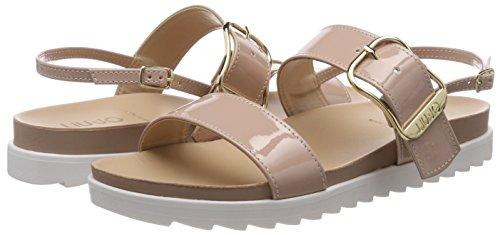 Sandalo Para Con Sandalias Jo Punta Liu Fringuello Mujer Rosa Footbed Abierta qF8wX5