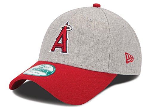 New Era MLB Los Angeles Angels The League Heather 9FORTY Adjustable Cap, One Size, Gray
