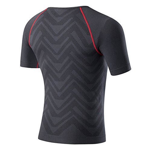 Smartcoco Elastic Compression Quick Drying Tight Clothes Short Sleeves For Man Boxing Bodybuilding Running Training Black