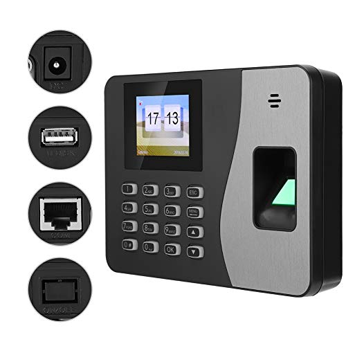 Biometric Fingerprint Attendance Machine for Employees, 2.4 Inches TFT LCD Screen Time Clock Time-Tracking Recorder for Employee Small Business(110-240V)