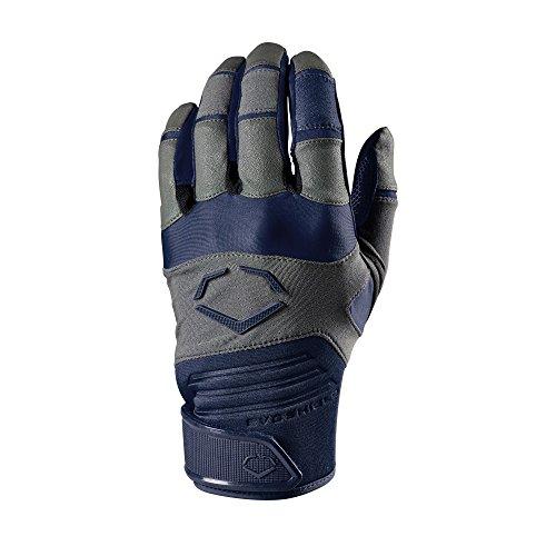 EvoShield Adult Aggressor Batting Gloves, Navy - Large