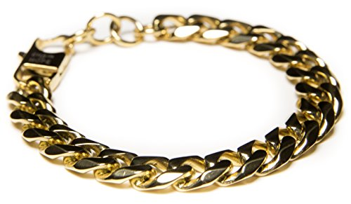 Mens Hand Chain - 14k Gold Dipped Cuban Bracelet - Charitable Chain of Hope - Benevolence LA