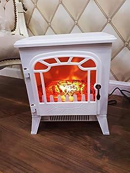 Garden Mile 1.8kw Blanco Tradicional hierro fundido EFECTO ESTUFA LEÑA eléctrico Estufa efecto llama Inserción Fire Room CALEFACTOR ESTUFA LEÑA 2 opciones ...