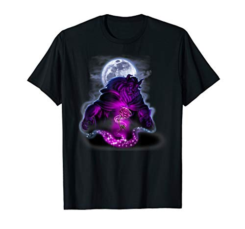Disney Beauty and the Beast Magic Rose In The Moonlight  T-Shirt