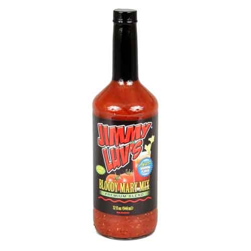 (Original Blend Bloody Mary Mix Jimmy Luv's 32oz ea Add to Vodka | Holiday or Halloween Party | Frustration-Free (Orig Blend,)