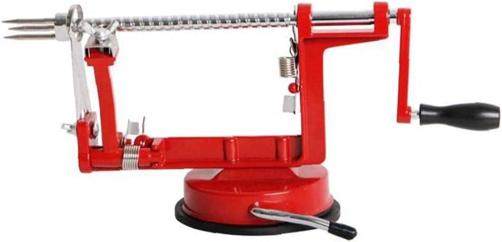 3 in 1 Apple Peeler Slicer Machine Cutter Corer Fruit Vegetable Potato Remover Red Kitchen Fruit Peeler