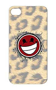 Rugged Laughing Smile Symbols Shapes Funny Mimer Happy Smiley Good Smiley Case Cover For Iphone 5s Red