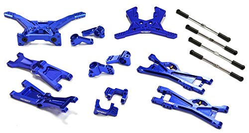 Integy RC Model Hop-ups C25144BLUE Billet Machined Complete Suspension Kit for Associated SC10B Off-Road