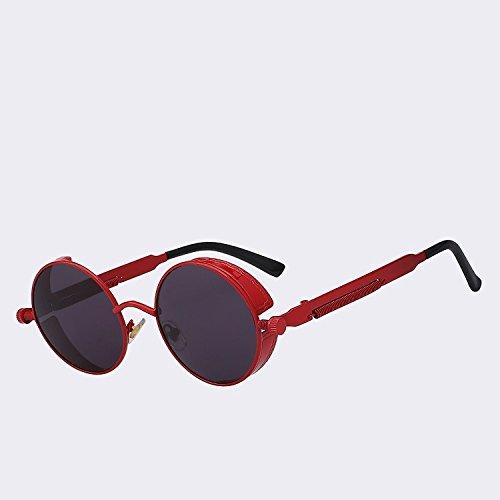 TIANLIANG04 Männer/Frauen Classic Oval zurück Sonnenbrille 100% UV-Schutz, C08 Silber
