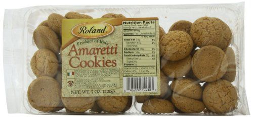 (Roland Foods Amaretti Cookies, 7 Ounce (Pack of 5))