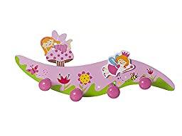 Kids Home Decor Set Pink Fairy Coat Hooks Wall Hook and Fairies Bookends for Girls Nursery or Bedroom