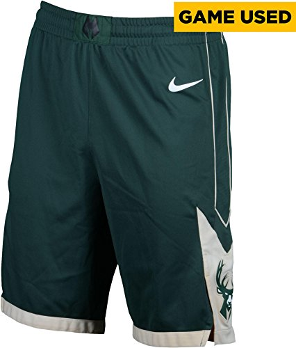 Shabazz Muhammad Milwaukee Bucks Game-Used #15 Green Shorts vs. Boston Celtics During Game 7 of the NBA Eastern Conference Round 1 Playoffs on April 28, 2018 - Size 42 - Fanatics Authentic Certified