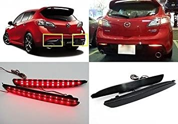 GTSpeed Made for 10-13 Mazda 3 5-Door Hatchback Mazdaspeed Style Rear PU Bumper Add-on Lip For Dual Exhaust Bumper ONLY - Pictured