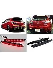 LEDIN Mazda3 2010+ Black Smoked Lens LED Bumper Reflector Tail Brake Light MAZDASPEED3