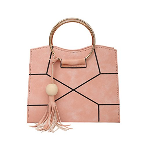 Metal Angels Bags amp;demons Crossbody Patchwork Tassel Ring Handle Small Pink Handbag Shoulder Women t6g6q