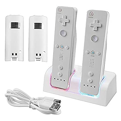 Amazon.com: topone Dual Wii Remote estación de carga con de ...