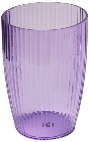 Carnation Home Fashions Ribbed Acrylic Wastebasket, Magenta