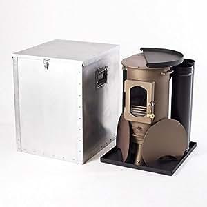 Traveller multi-fuel estufa de aluminio caja de almacenaje