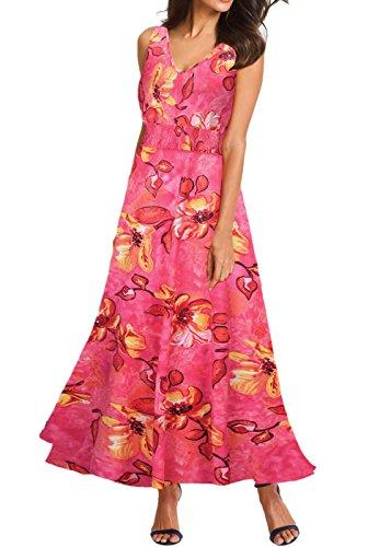 Vestido largo con cuello de cisne sexy para mujer Rojo