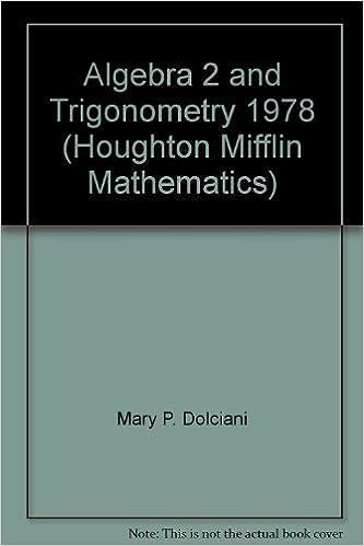 Algebra 2 and Trigonometry 1978 (Houghton Mifflin
