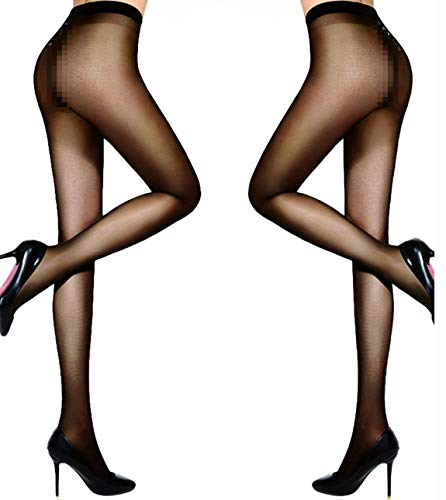 6bdaa25e5e4 HONENNA Women s 40 Den Silky Sheer Reinforced T Crotch Pantyhose Tights