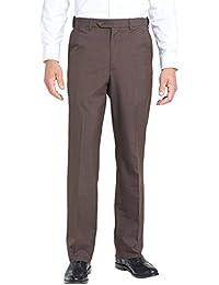 Wool Blend Self sizer Flat Front Pant