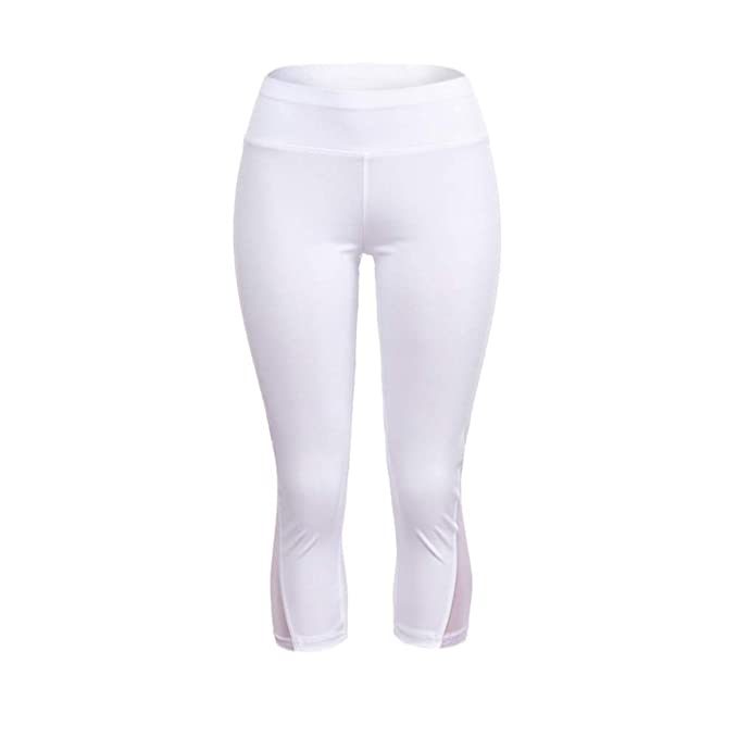 Pantalones de Longitud Becerro Leggings Deportivos de Malla ...