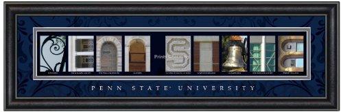 Prints Charming Letter Art Framed Print, Penn State University-Penn State, Bold Color Border