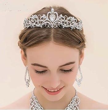 Tiara Krone Prinzessin Mit Rhinstone Fur Frisuren Braut Kommunion
